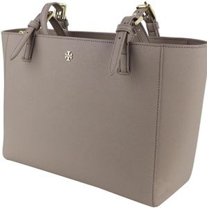 Kate Spade Large Emerson Buckle Tote French Gray